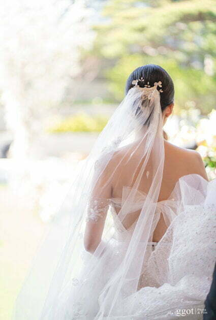 Mira Bride wearing Shine gown