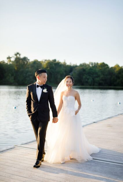 Mira bride wearing Amy gown