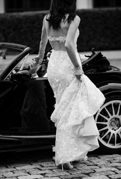 Jenna Nortman <br /> wearing Mati gown