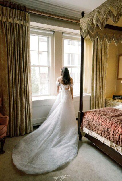 Stephanie Sutton wearing Shine gown