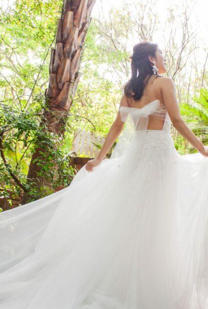 Mira Bride wearing Whisper gown