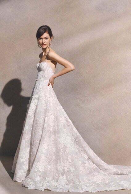 Mira bride wearing Anessa gown