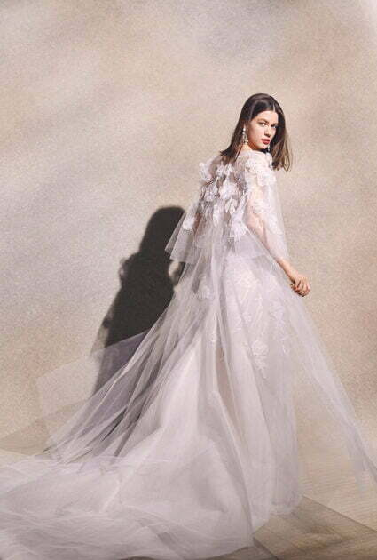 Mira bride wearing Sallee gown