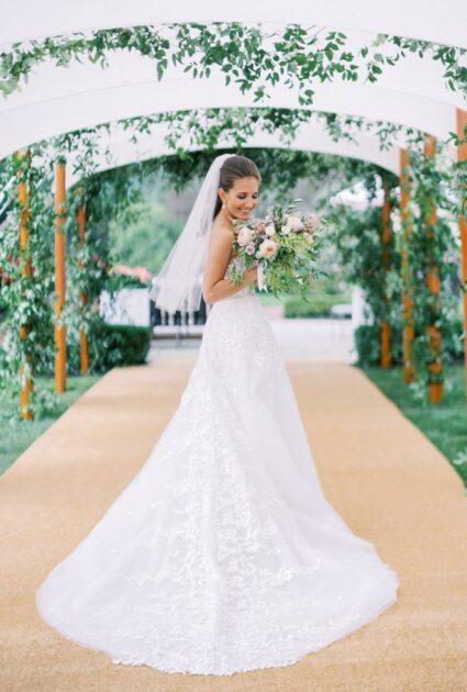 Chelsea Wearing Charla gown