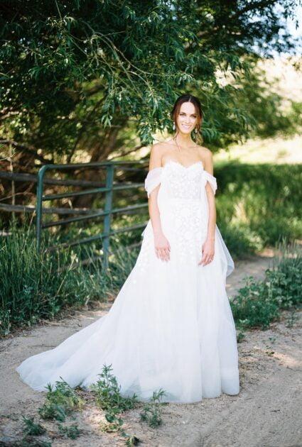 Michelle is wearing Lexa gown