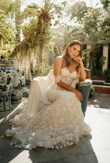 Mirella wearing Lulu gown
