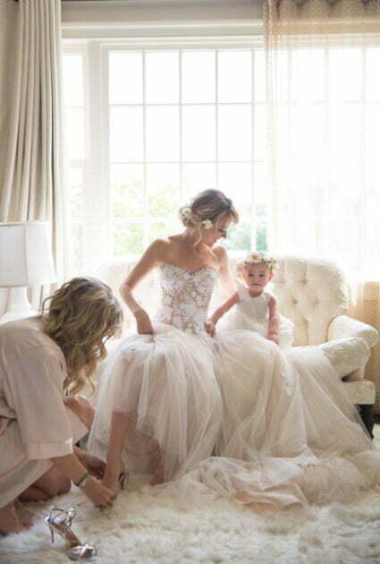 Mira bride wearing Fiona gown