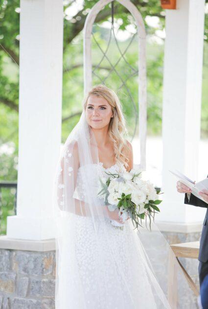 Mira bride wearing Gigi gown