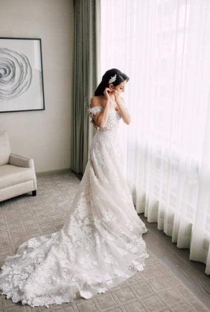 Tamara Wearing Messa gown
