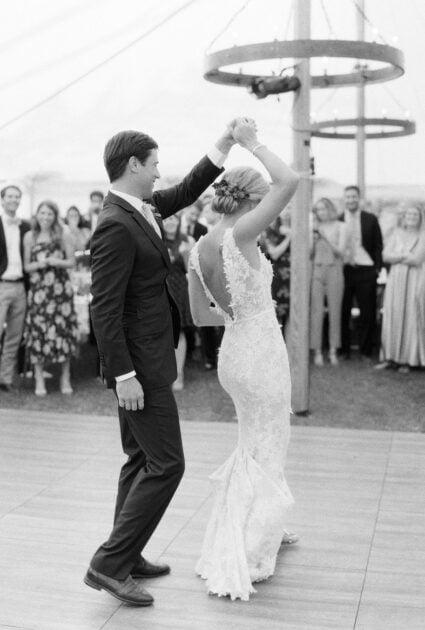 Mira bride wearing Veronica gown