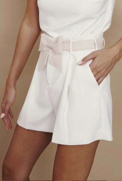 Bianca Short With Nude Bow Belt