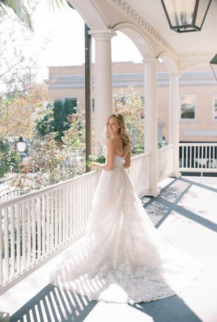 Ellie Wearing Charla gown
