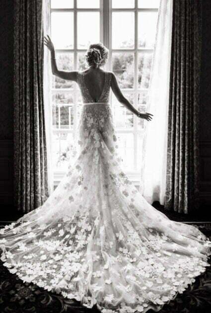 Mira bride wearing Alpha gown