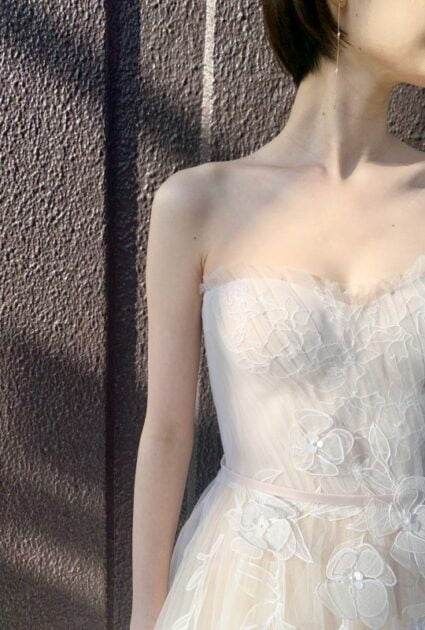 Mira Zwillinger bride wearing Amy gown