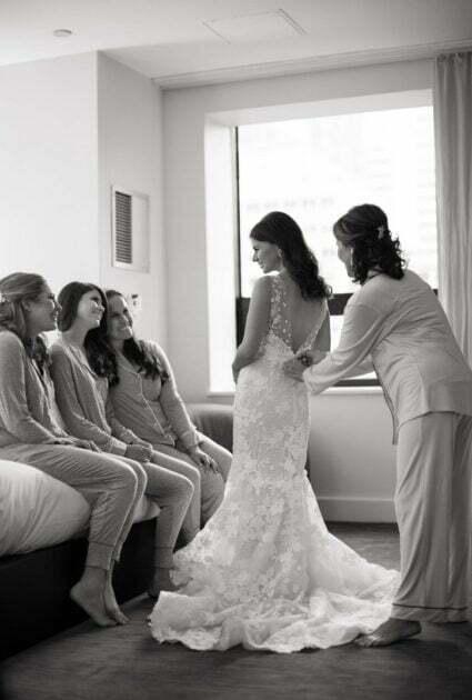 Mira bride wearing Verona gown<br />