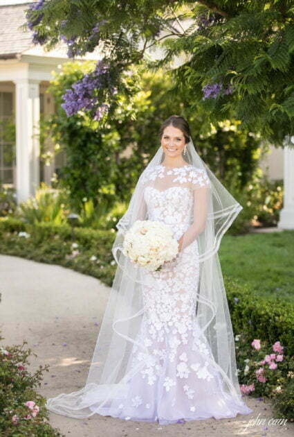 Stephanie wearing Riley gown and matching topper
