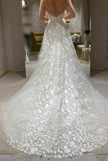 Mira bride wearing Andi gown