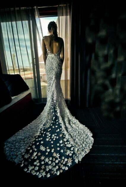 Mira Bride wearing Noelle gown<br />
