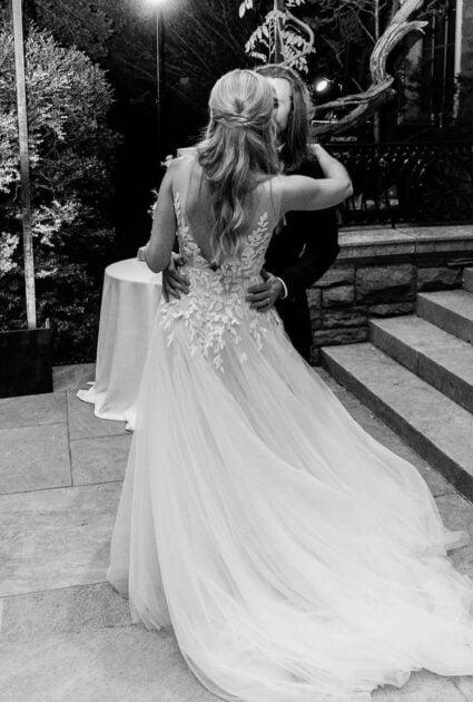 Anne wearing Elli gown