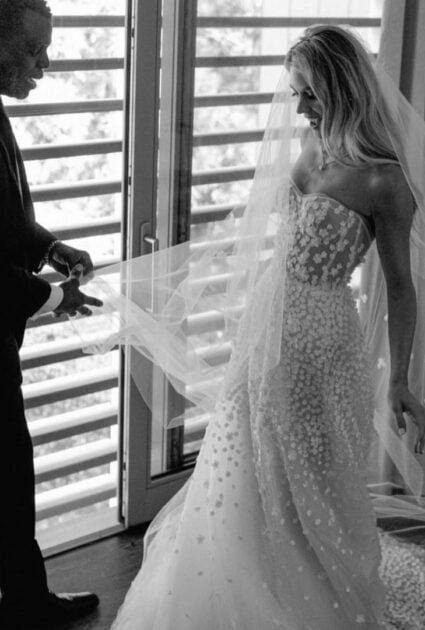 Steph wearing Gigi gown